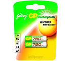 Godrej GP AAA 750 mAh (2 Pcs) Rechargeable Battery (Multicolor)