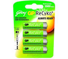 Godrej GP ReCyko AA 2100 mAh (4 Pcs - Pre-Charged) Rechargeable Battery (Multicolor)