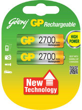 Godrej GP AA 2700 MAh LSD (2 Pcs) Rechargeable Bat...