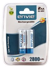 Envie AA 2800 2PL Ni-MH Rechargeable Battery, multicolor