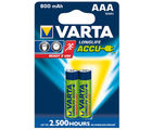 Varta Longlife Accus 2AAA Size Ni-MH 800 mAH Rechargeable Battery (Multicolor)