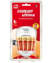 Eveready 2100 BP4C Charger with 4 Batteries, multicolor