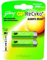 Godrej GP ReCyko AA 2100 mAh (2 Pcs - Pre-Charged) Rechargeable Battery