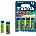 Varta Longlife Accus 4AA Size Ni-MH 2100 mAH Rechargeable Battery