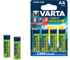 Varta Longlife Accus 4AA Size Ni-MH 2100 mAH Rechargeable Battery (Multicolor)