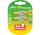 Godrej GP AA 2500 mAh LSD (2 Pcs) Rechargeable Battery (Multicolor)