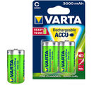 Varta Rechargeable Power Accue 2 D size 3000 Ni-mAh Ready to use Battery, multicolor