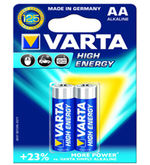 Varta High Energy 2 AA Size Alkaline Batteries (Multicolor)