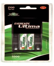 Eveready Ultima Rechargeable Nimh 2100 MAh 2 Pc Batteries With AA-AAA Charger For Camera, Multicolor