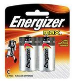 Energizer Max E93BP2 'C' Alkaline Battery (Multicolor)