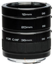 Kenko DG Extension Tubes 12mm,20mm And 36mm For Nikon (Black)