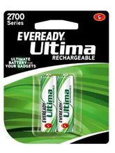 Eveready Ultima Rechargeable Nimh 2700 Mah batteries for Camera 2pcs, multicolor