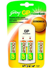 Godrej GP Powerbank S350 (with 4 Pcs GP 2100 mAh AA Batteries) Battery Charger