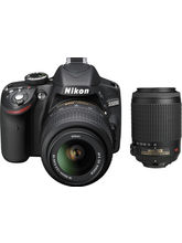 Nikon D3200 Combo (with D-ZOOM KIT: AF-S 18-55mm VRII & AF-S 55-200mm VRII Kit Lenses), black