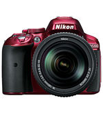 Nikon D5300 DSLR (With AF-S 18-140mm VR Kit Lens), red
