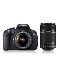 Canon EOS 700D Double Zoom DSLR Camera ( with EF S18-55 IS II & EF S55-250 IS II Lens),  black