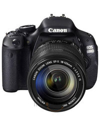 CANON EOS 600D SLR WITH (18-135mm IS) LENS,  black