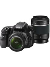 Sony SLT-A58Y DSLR (With SAL18552 & SAL55200 Lens) (Black)