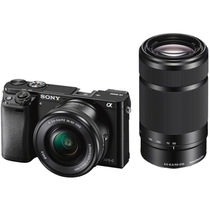 Sony ILCE-6000Y Digital E-mount 24.3 Mega Pixel Camera (with SELP1650 & SEL55210 Lens),  black