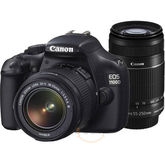 Canon EOS 1100D DSLR With Double Lens Kit (EF-S 18-55mm IS II + EF-S 55-250mm IS II) Lens (Black)