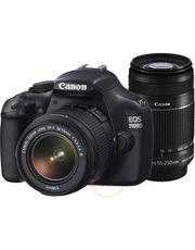 CANON EOS 1100D SLR WITH DOUBLE KIT (EF-S 18-55MM IS II EF-S 55-250MM IS II) LENS