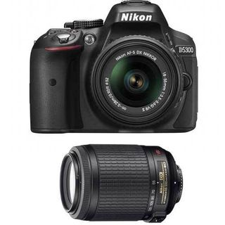 Nikon D5300 (With AF-S 18-55 mm + AF-S 55-200 VRII Lens) DSLR Camera