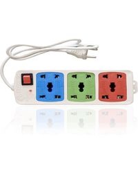Hitisheng 3+ 3 Sockets Power Strip Extension Cord Board 6 Strip Surge Protector (), multicolor