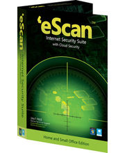 EScan Internet Security Suite With Cloud Security 4 PC 1 Year, Multicolor