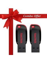 SanDisk 16GB+16GB Cruzer Blade Pen Drive (Pack of 2)
