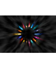 Eclipse Colorful Circle Stone Laptop Skin ECLS0067, multicolor