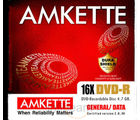 Amkette DVD-R 4.7 GB 16x JC (10 Pack) (Multicolor)