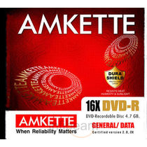 Amkette DVD R 4.7 GB 16x JC (10 Pack)