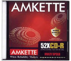 Amkette CD-R 52x JC (10 Pack) (Multicolor)