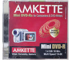 Amkette Mini DVD-R 1.4 GB 8x JC 10 Pack (Multicolor)