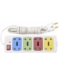 Hitisheng 4+ 4 Sockets Power Extension Cord Board Multiple Outlet 8 Strip Surge Protector (), multicolor