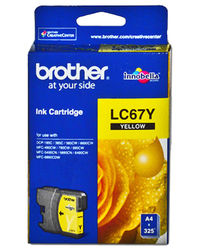 Brother Ink LC 67 Yellow (life 325sh),  yellow