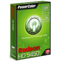 Powercolor AX5450 512MK3-SH (RADEON HD5450) 512MB DDR3 HDMI Graphics card, multicolor