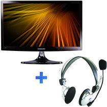 Samsung 23 Inch LED Monitor - T23B350AR Combo,  black