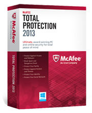 McAfee Total Protection 2013 (3 user) (Multicolor)
