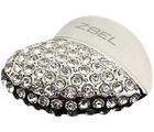 ZBEL Bling Heart Shaped 8 GB Flash Drives (Silver, 8 GB)