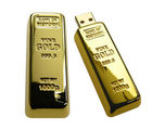 Smiledrive 8GB Fancy Designer Gold Bar Shaped Pendrive, gold, 8 gb