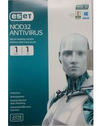 Eset Nod32 Antivirus 2016 Edition 1 User 1 Year
