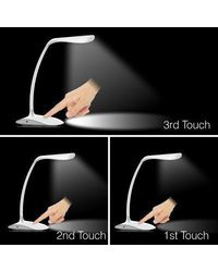 EnerZ Chirag Rechargable USB LED Table Lamp,  white