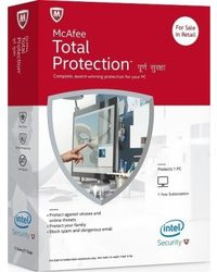 McAfee Total Protection, multicolor, 1 user 1 year