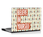 Seven rays Believe in Yourself Laptop Skin, multicolor