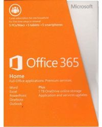 Microsoft Office 365 Home (5 Licenses PCs) (Product Key Card) (No DVD), multicolor