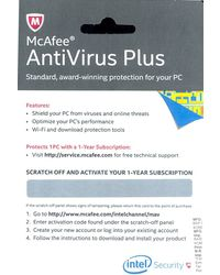 McAfee Anti-Virus Plus (1 PC / 1 Year) - Activation Voucher, standard-multicolor