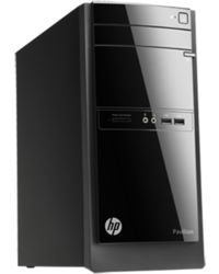 HP 110-107in Desktop PC (ENERGY STAR) (E9T58AA) (Intel Core i3-3240T/ 2GB RAM/ 500GB HDD/ Win 8/ Intel HD Graphics),  black