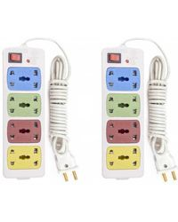 Hitisheng extension cord 8 Strip Surge Protector, multicolor