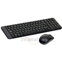 Logitech MK220 Wireless Keyboard and Mouse Combo, Black, standard-black